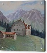 Large Barn On A Hill Acrylic Print