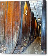 Large Barrels At Korbel Winery In Russian River Valley-ca Acrylic Print