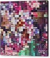 Large Blocks Digital Abstract - Purples Acrylic Print