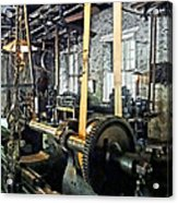 Large Lathe In Machine Shop Acrylic Print