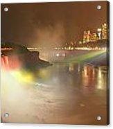 Large Niagara Nighttime Panorama Acrylic Print