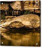 Large Rock In Cumberland River Acrylic Print