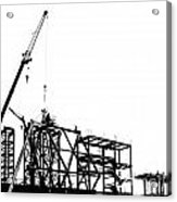 Large Scale Construction In Outline Acrylic Print