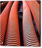 Large Sewage Pipes Acrylic Print