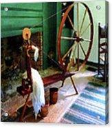 Large Spinning Wheel Acrylic Print