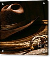Lariat And Hat Acrylic Print