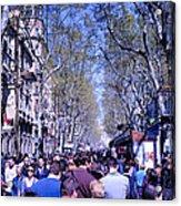 Las Ramblas - Barcelona Spain Acrylic Print