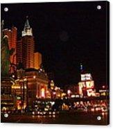 Las Vegas At Midnight Acrylic Print