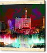 Las Vegas Bellagio Painting Acrylic Print