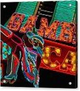 Las Vegas Neon Signs Fremont Street  Acrylic Print