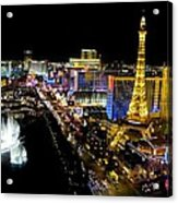 City - Las Vegas Nightlife Acrylic Print