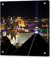 Las Vegas Night Pano Acrylic Print