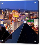 Las Vegas Skyline Acrylic Print by Brian Jannsen