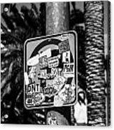 Las Vegas Sticker Sign Acrylic Print