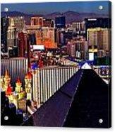 Las Vegas Sundown Acrylic Print