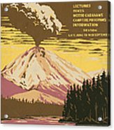 Lassen Travel Poster 1938 Acrylic Print