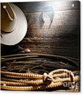 Lasso In Old Barn Acrylic Print