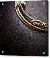 Lasso On Leather Acrylic Print