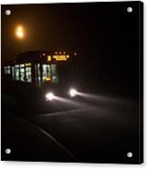 Last Bus In The Fog Acrylic Print