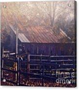 Last Foggy Morning On The Farm Acrylic Print