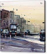 Last Light - College Ave. Acrylic Print by Ryan Radke