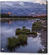 Last Light On Lembert Dome Acrylic Print