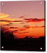 Last Night's Sunset Acrylic Print