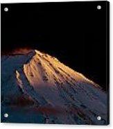 Last Rays Upon Mt Fuji Acrylic Print