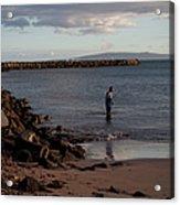 Late Afternoon Angler - Maalaea-maui Acrylic Print