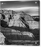 Late Afternoon In The Badlands Acrylic Print