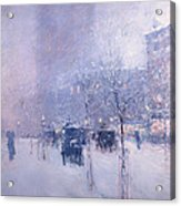 Late Afternoon - New York Winter Acrylic Print