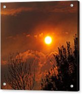 Late Afternoon Sun Through Smoke And Clouds Acrylic Print