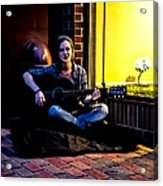 Late Night Busking Acrylic Print