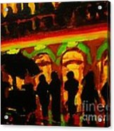 Late Night Hotdog Cart In Halifax Acrylic Print