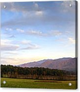 Late October Dusk At Cades Cove Acrylic Print