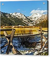 Late Spring Snow At Squaw Acrylic Print