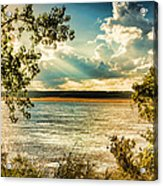 Late Summer Afternoon On The Mississippi Acrylic Print
