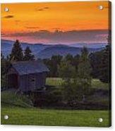 Late Summer Sunset Acrylic Print