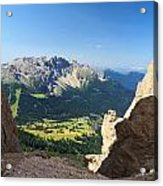 Latemar Mount From Vaiolon Pass Acrylic Print