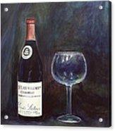 Latour Wine Buon Fresco 3 Primary Pigments Acrylic Print