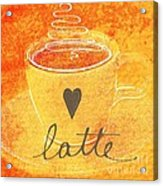 Latte Acrylic Print by Linda Woods