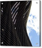 Lattice With Blue Sky And Clouds Acrylic Print