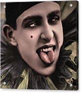 Laughing Pierrot Clown Vintage Art Acrylic Print
