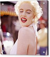Laughter Of Marilyn Acrylic Print