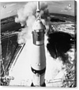 Launch Of Apollo 11 Mission On A Saturn V Rocket Acrylic Print