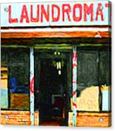 Laundromat 20130731pop Acrylic Print by Wingsdomain Art and Photography