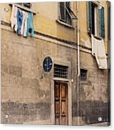 Laundry Day In Verona Acrylic Print