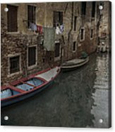 Laundry In Venice Canal Acrylic Print