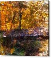 Laura Bradley Park Foot Bridge 02 Acrylic Print