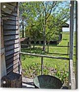 Laura Plantation Slaves Porch Acrylic Print